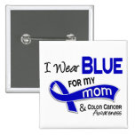 I Wear Blue For My Mom 42 Colon Cancer Button