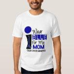 I Wear Blue For My Mom 9 COLON CANCER Apparel Tshirt