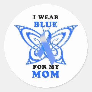 I Wear Blue for my Mom Classic Round Sticker