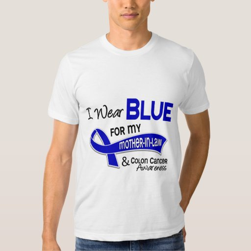 I Wear Blue For My Mother-In-Law 42 Colon Cancer Tshirt