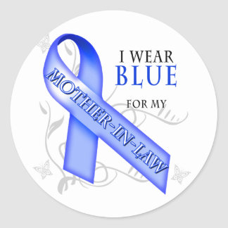 I Wear Blue for my Mother-In-Law Classic Round Sticker