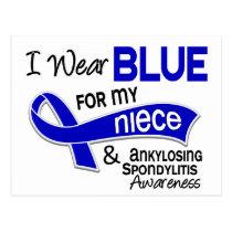 I Wear Blue For My Niece 42 Ankylosing Spondylitis Postcard