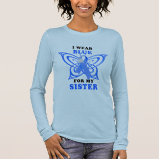 I Wear Blue for my Sister Long Sleeve T-Shirt