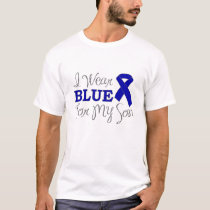 I Wear Blue For My Son (Blue Awareness Ribbon) T-Shirt