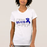 I Wear Blue For My Son (Blue Awareness Ribbon) Tee Shirts