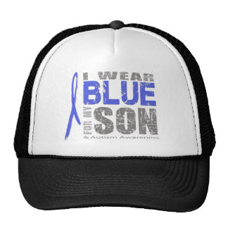 I wear blue for my son mesh hat