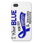 I Wear Blue For My Stepmom 42 Ankylosing Spondylit iPhone 4 Cases