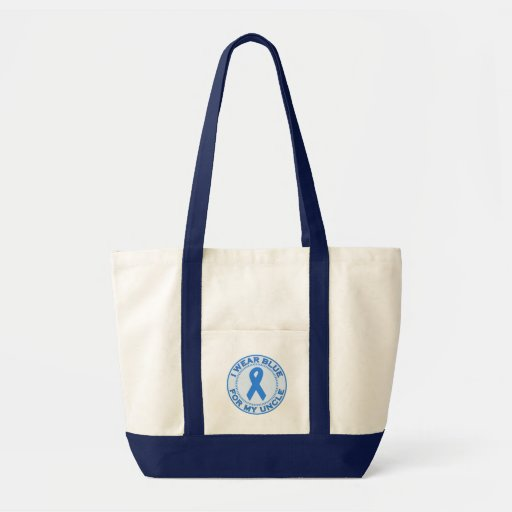 I Wear Blue For My Uncle Canvas Bags