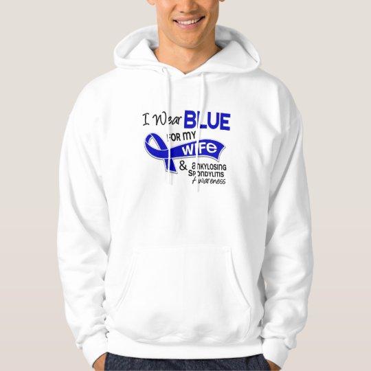 I Wear Blue For My Wife 42 Ankylosing Spondylitis Hoodie