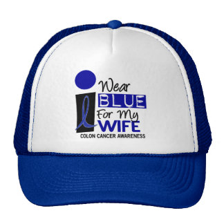 I Wear Blue For My Wife 9 COLON CANCER T-Shirts Hat