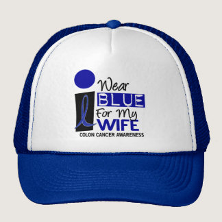 I Wear Blue For My Wife 9 COLON CANCER T-Shirts Trucker Hat