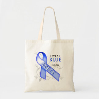 I Wear Blue for my Wife Canvas Bag