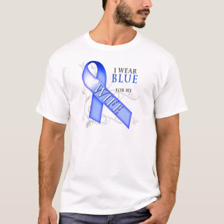 I Wear Blue for my Wife T-Shirt