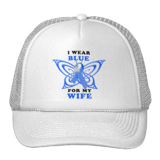 I Wear Blue for my Wife Trucker Hat