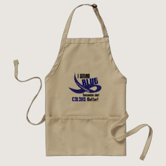 I Wear Blue For Our Colons 33 COLON CANCER AWARENE Adult Apron