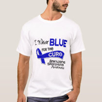 I Wear Blue For The Cure 42 Ankylosing Spondylitis T-Shirt