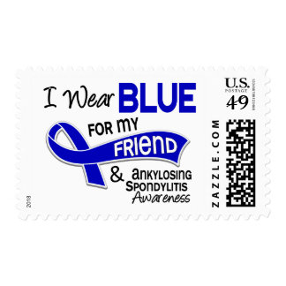 I Wear Blue Friend 42 Ankylosing Spondylitis Stamp