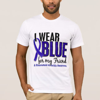 I Wear Blue Friend Rheumatoid Arthritis RA T-Shirt