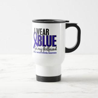 I Wear Blue Girlfriend 10 Rheumatoid Arthritis RA 15 Oz Stainless Steel Travel Mug
