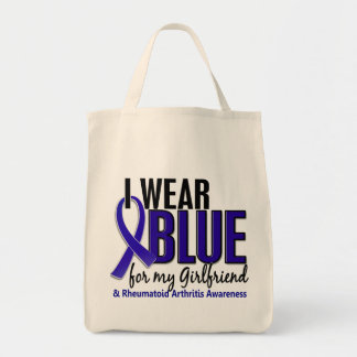 I Wear Blue Girlfriend 10 Rheumatoid Arthritis RA Tote Bag