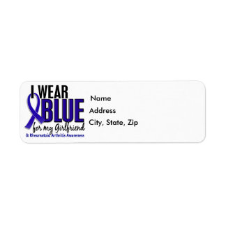 I Wear Blue Girlfriend 10 Rheumatoid Arthritis RA Label