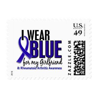I Wear Blue Girlfriend 10 Rheumatoid Arthritis RA Postage Stamp