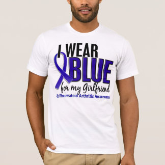 I Wear Blue Girlfriend 10 Rheumatoid Arthritis RA T-Shirt