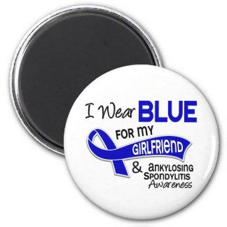 I Wear Blue Girlfriend 42 Ankylosing Spondylitis 2 Inch Round Magnet