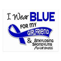 I Wear Blue Girlfriend 42 Ankylosing Spondylitis Postcard