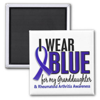 I Wear Blue Granddaughter 10 Rheumatoid Arthritis Magnet