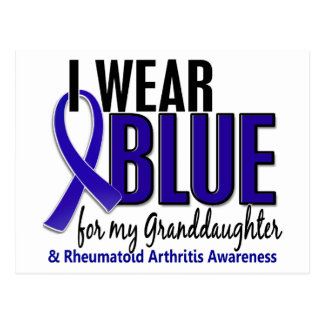 I Wear Blue Granddaughter 10 Rheumatoid Arthritis Postcard