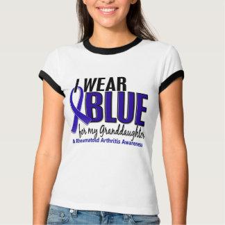 I Wear Blue Granddaughter 10 Rheumatoid Arthritis T-Shirt