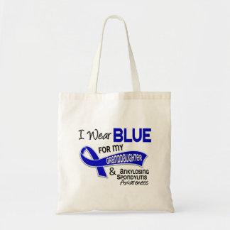 I Wear Blue Granddaughter 42 Ankylosing Spondyliti Tote Bag
