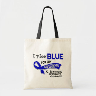 I Wear Blue Granddaughter 42 Ankylosing Spondyliti Tote Bags