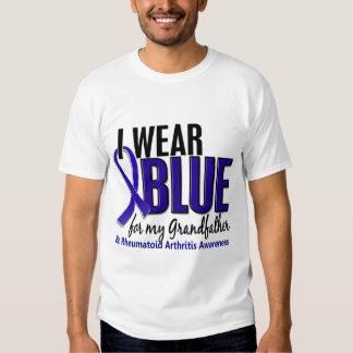 I Wear Blue Grandfather Rheumatoid Arthritis RA T-shirts