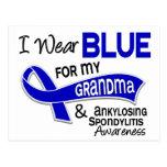 I Wear Blue Grandma 42 Ankylosing Spondylitis Postcard