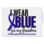 I Wear Blue Grandma Rheumatoid Arthritis RA Greeting Card