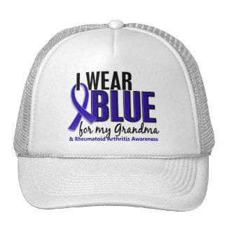 I Wear Blue Grandma Rheumatoid Arthritis RA Mesh Hat