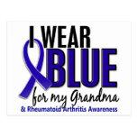 I Wear Blue Grandma Rheumatoid Arthritis RA Postcard