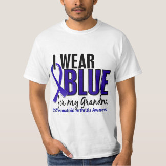 I Wear Blue Grandma Rheumatoid Arthritis RA T-Shirt