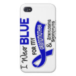 I Wear Blue Grandmother 42 Ankylosing Spondylitis Covers For iPhone 4