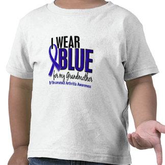 I Wear Blue Grandmother Rheumatoid Arthritis RA T-shirt