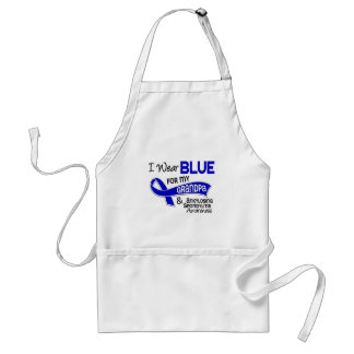 I Wear Blue Grandpa 42 Ankylosing Spondylitis Adult Apron