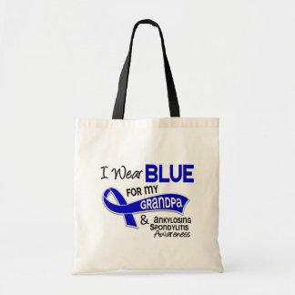 I Wear Blue Grandpa 42 Ankylosing Spondylitis Budget Tote Bag