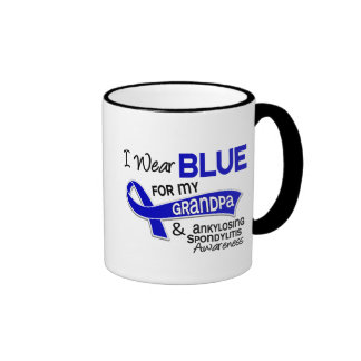 I Wear Blue Grandpa 42 Ankylosing Spondylitis Ringer Coffee Mug