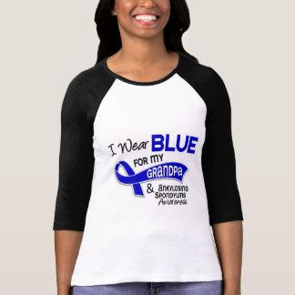 I Wear Blue Grandpa 42 Ankylosing Spondylitis Tshirt