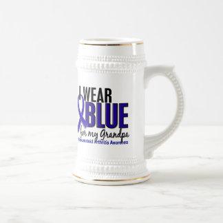 I Wear Blue Grandpa Rheumatoid Arthritis RA 18 Oz Beer Stein