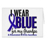 I Wear Blue Grandpa Rheumatoid Arthritis RA Greeting Cards