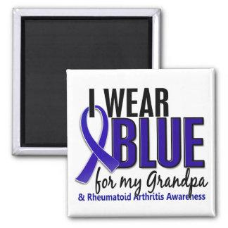 I Wear Blue Grandpa Rheumatoid Arthritis RA Fridge Magnet