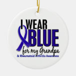 I Wear Blue Grandpa Rheumatoid Arthritis RA Ornaments